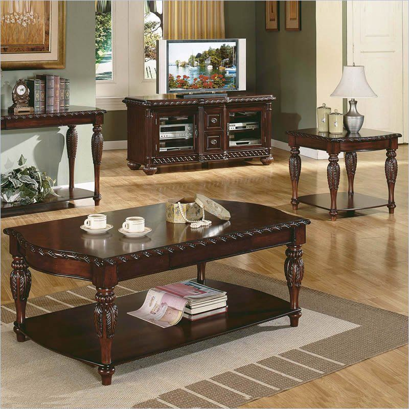 Best Steve Silver Company Antoinette 3 Piece Coffee Table Set 400 x 300