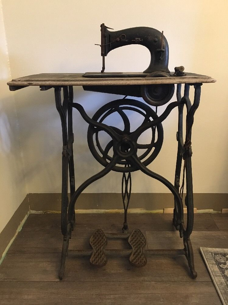 Museum Piece Rare R E Simpsons Pat'd February 40 Treadle Cool Sewing Machines Glasgow