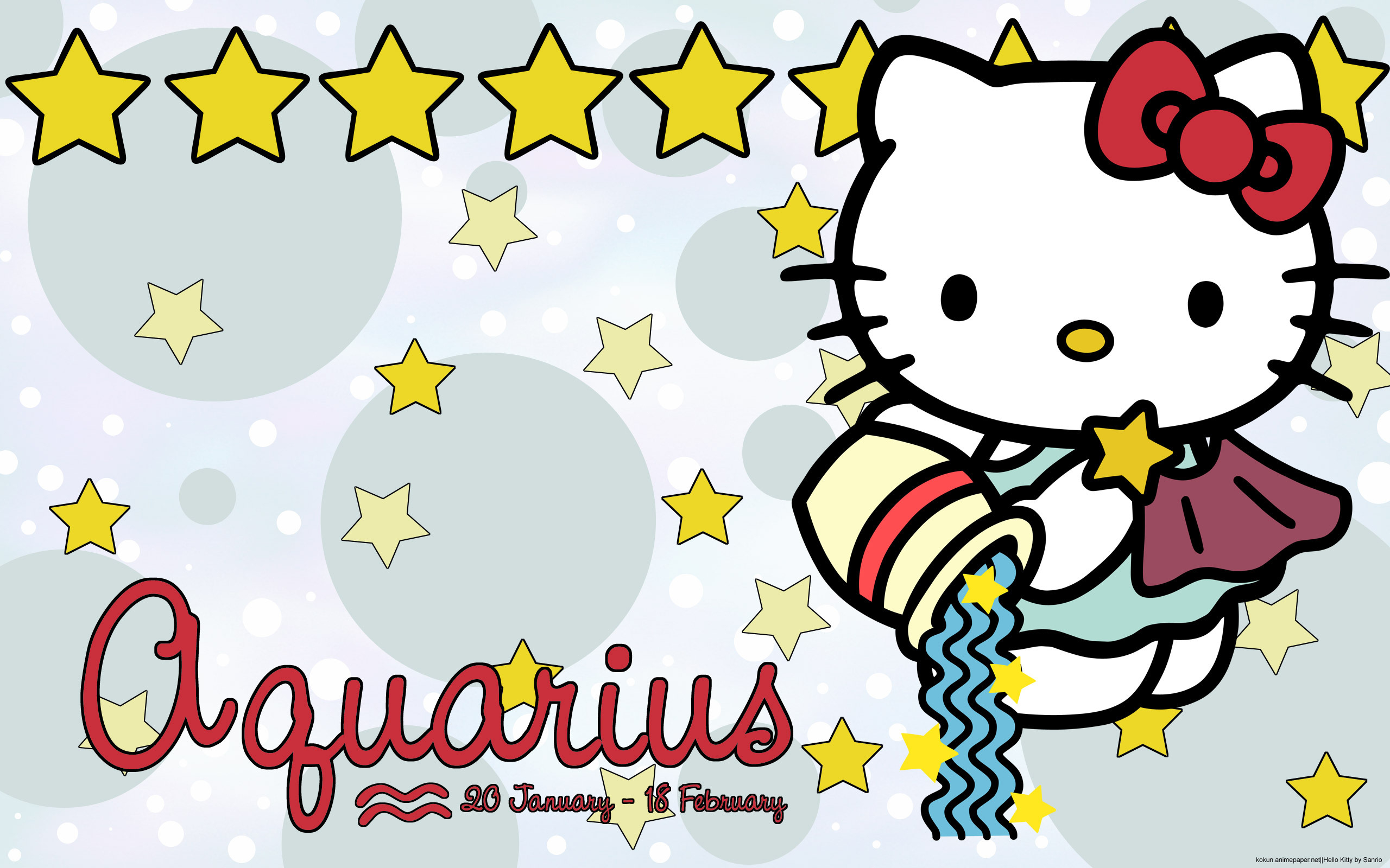 Hello Kitty Aquarius wallpaper  Hello kitty art, Hello kitty