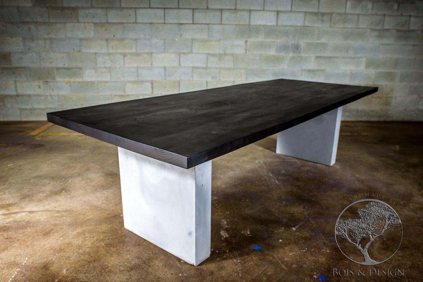 Table en frÊne noir sur base de bÉton the decor in me pinterest