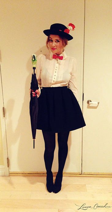 Mary Poppins Is A Simple Costume To Put Together And You Can Get Away With Pretty Short Skirt The Black S Source Lauren Conrad