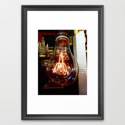 LIGHTbulb Framed Art Print