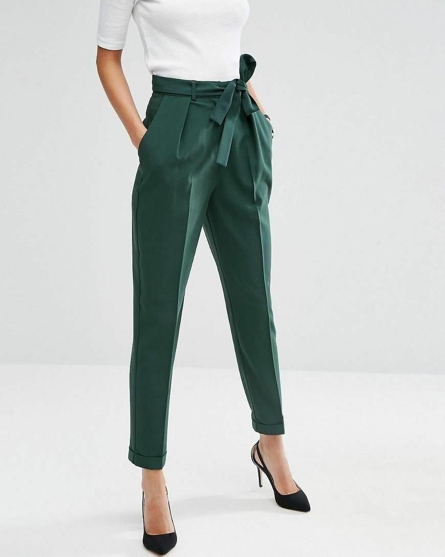 30a72575d Pantalones Verdes, Pantalones De Vestir, Atuendo Casual, Ropa Elegante,  Vestidos De Moda