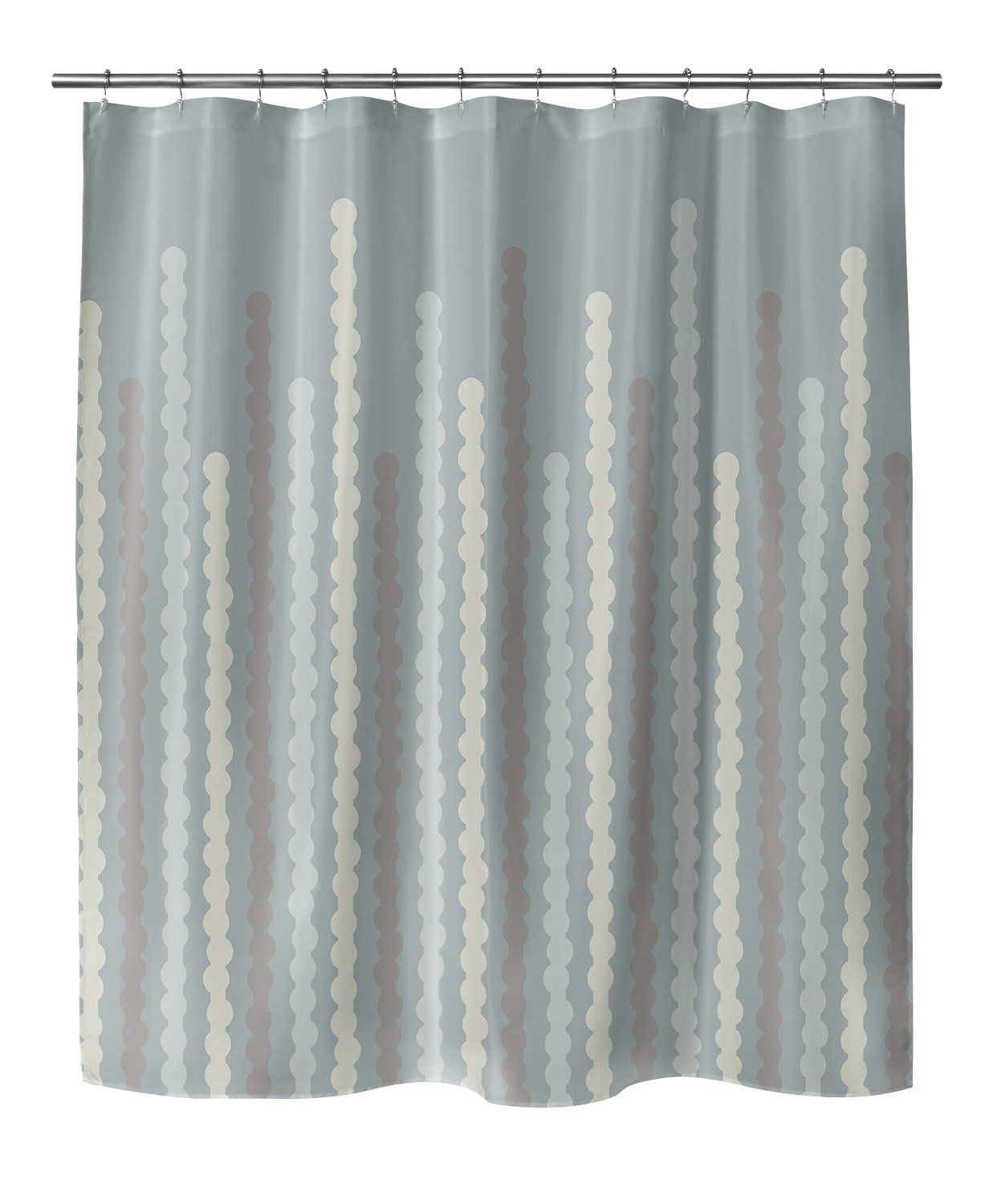 Photo of BUBBLES MINT Shower Curtain By BG Riley – 70in x 72in