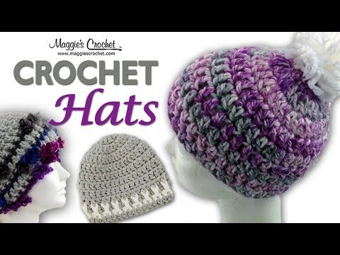 89dfb2686c3 Serenity Pompom Hat Free Crochet Pattern - Left Handed