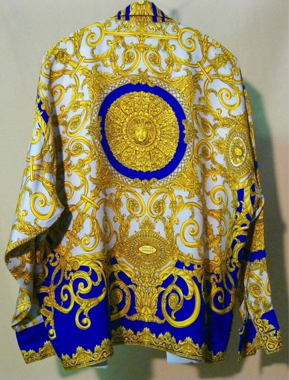 Sale ATELIER VERSACE shirt by Gianni Versace shirt in gold ... 044c5f099dd
