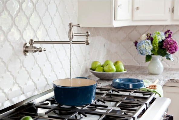 pot filler - keep close to the sink since you still need to carry the hot pot there to be emptied!