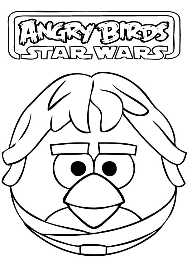 Angry Birds Star Wars Coloring Pages | angry birds star wars ...