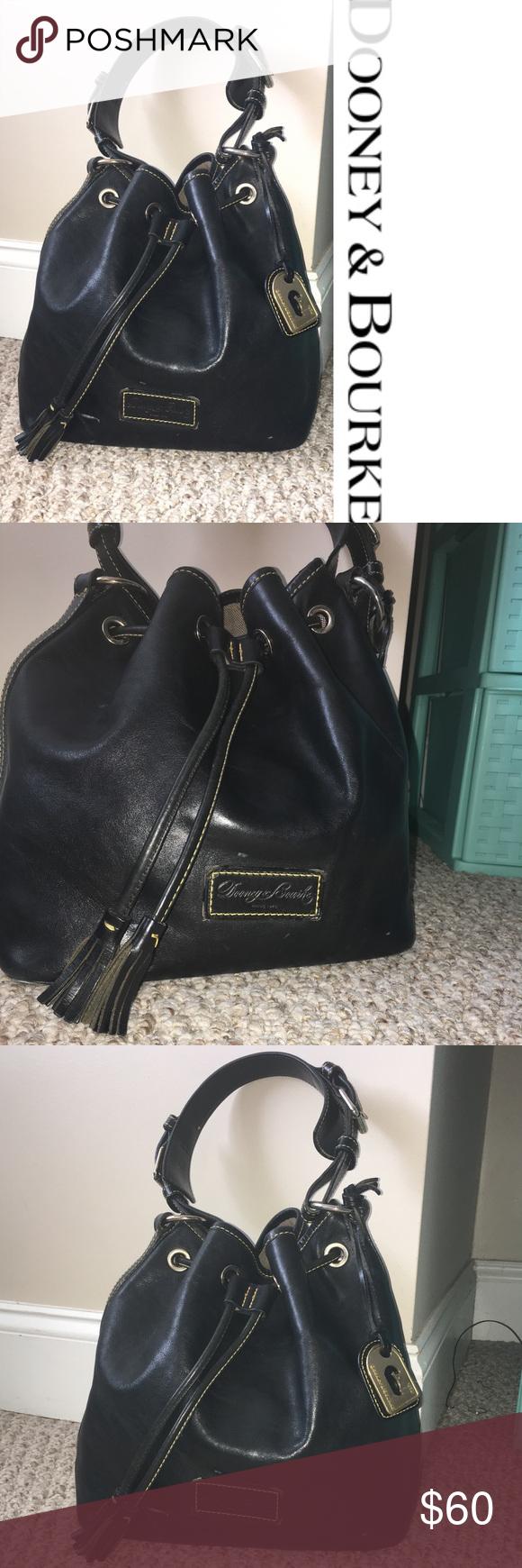 Dooney Bourke Black Leather Bag