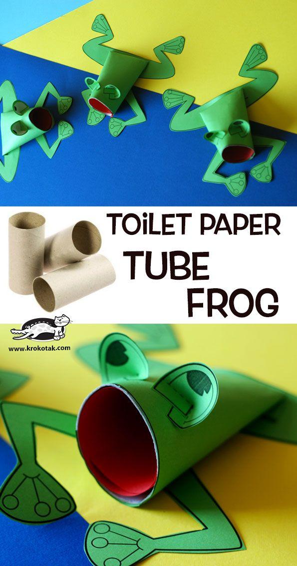 Toilet paper tube frog toilet paper kids craft for Toilet paper tube art