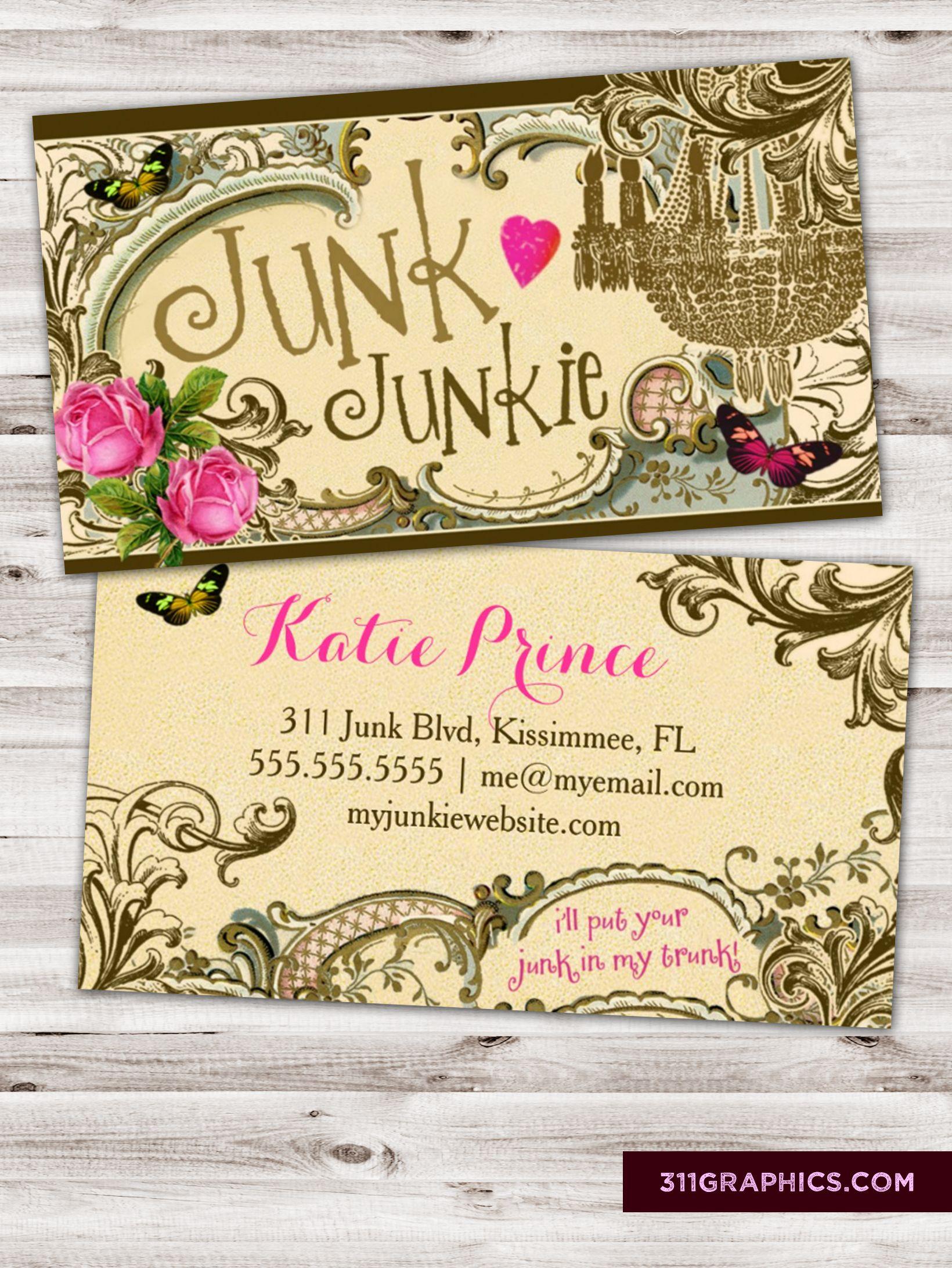 Junk Junkie Business Card