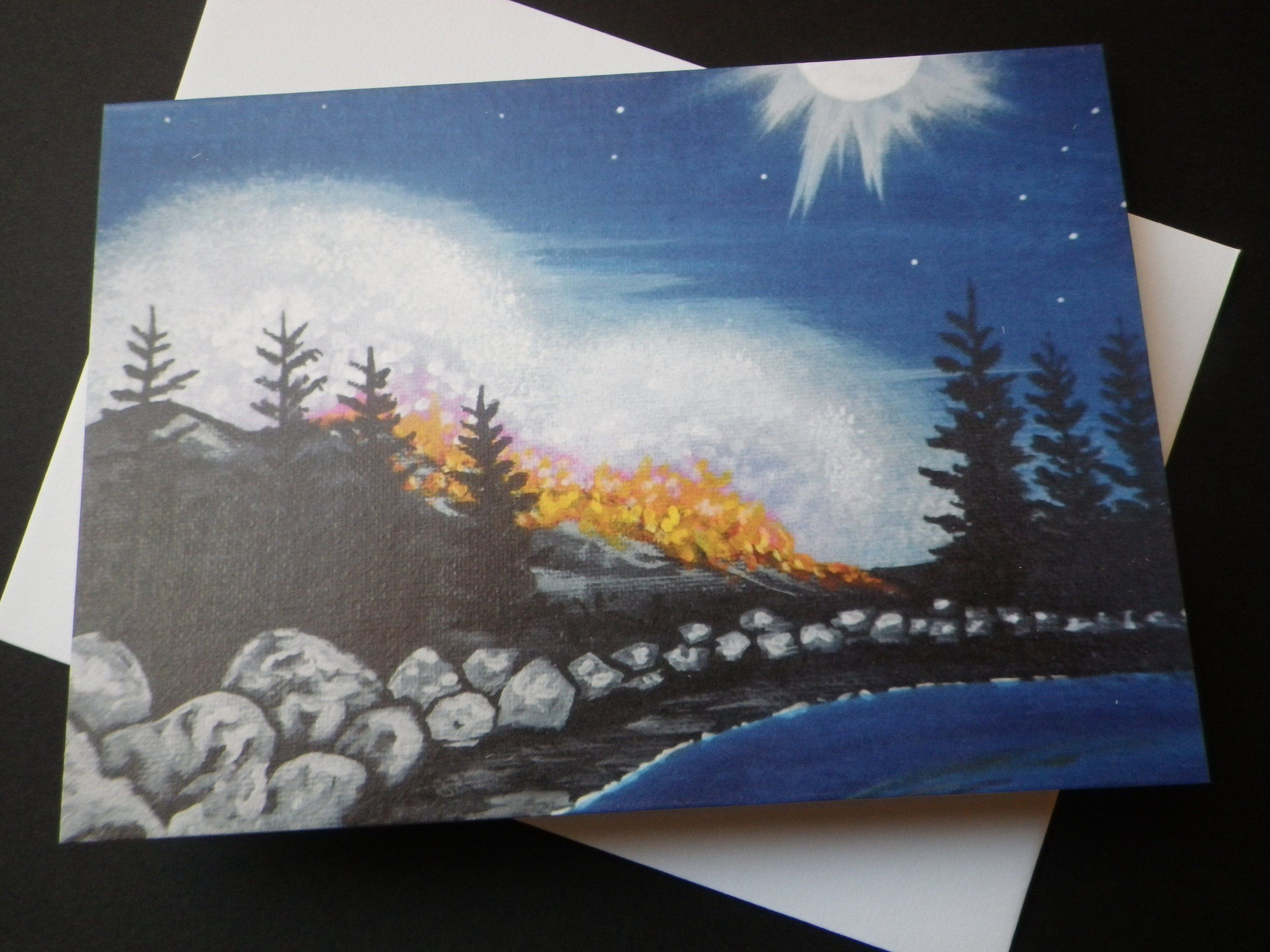 Fire and moonlight forest fire wildland firefighter gift