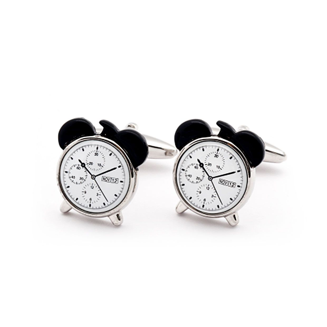 Mark And Fun Clock Cufflinks now featured on Fab. At a time and over time!