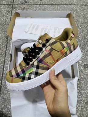 new style a221b 373f1 Burberry x Nike AIR FORCE 1 Low 10SG  Shoes in 2018  Pinterest  Nike air  force, Nike and Air force 1