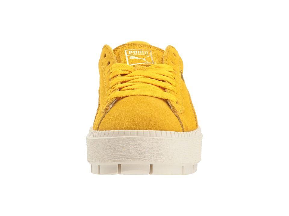 280865872e7 PUMA Suede Platform Trace Bold Women s Shoes Lemon Evening Blue ...