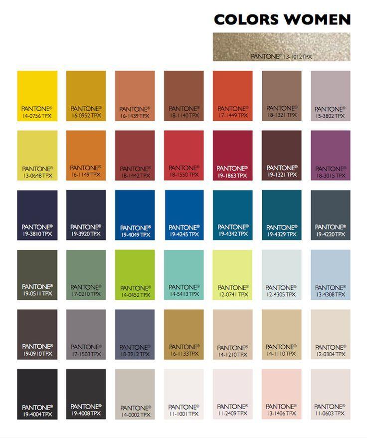 Colors Fall-Winter 2015-2016 women fashion season Fall-Winter 2015-2016 Apparel ----- Tavolozza colori donna stagione Autunno-Inverno 2015-2016 Abbigliamento