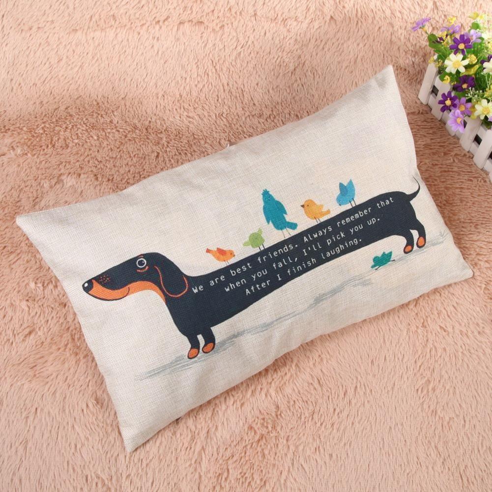 A Very Long Dachshund Cushion Cover Dog cushions