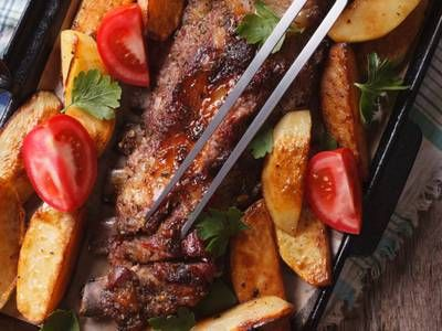 Photo of Baked Pork Chops & Tomatoes