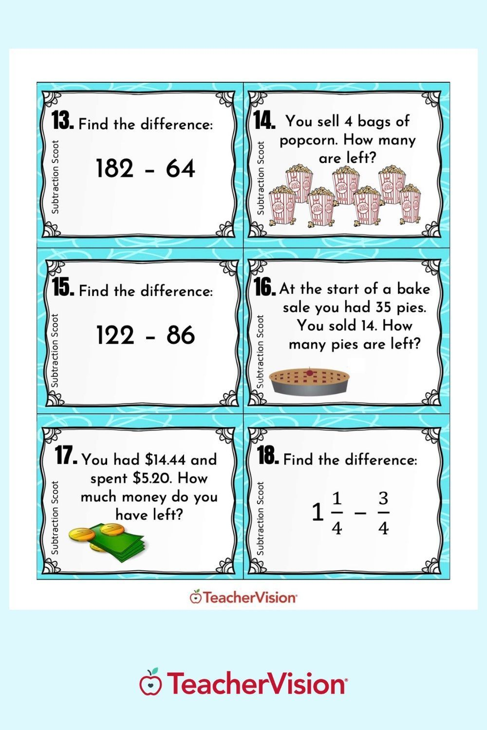 Subtraction Scoot Math Game For Classroom Or Remote Learning In 2021 Math Scoot Math Practice Worksheets Math [ 1500 x 1000 Pixel ]