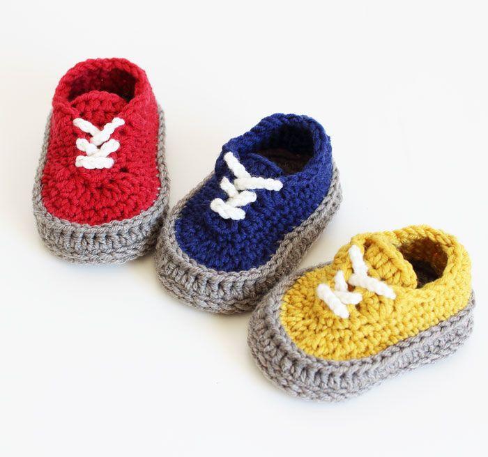 Crochet Pattern Classic Sneakers Baby Shoe Instant Download