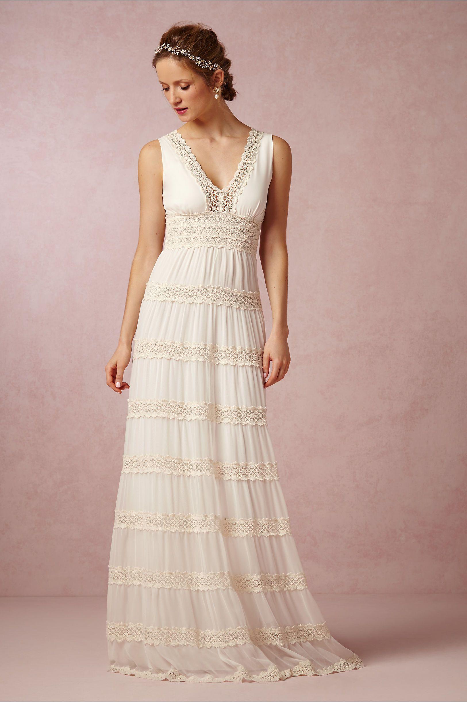 Rosemary Dress from BHLDN | Beachy Wedding Dresses | Pinterest ...
