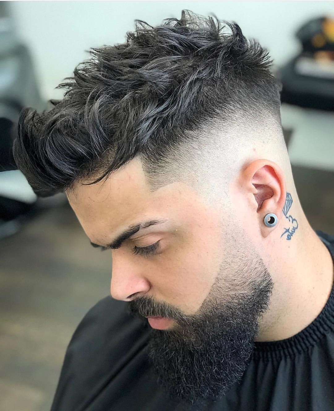 Spiky Mid Fade Shorthairformen Quiff Hairstyles Fade Haircut Haircuts For Men