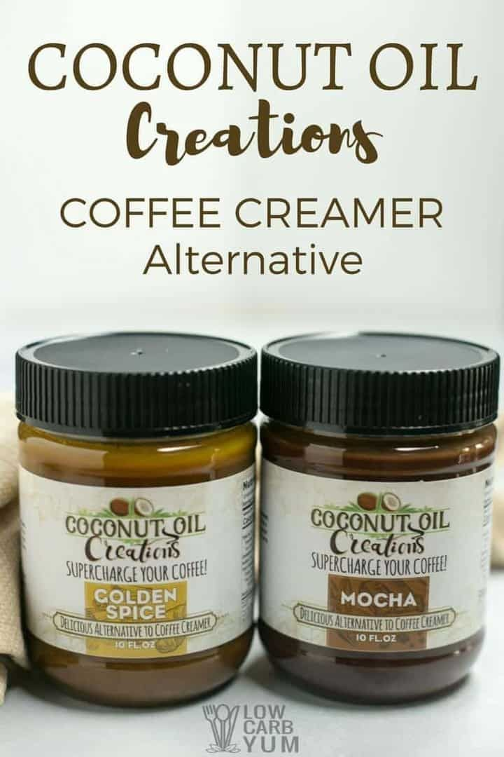 Coconut oil coffee creamer alternative for keto diet via