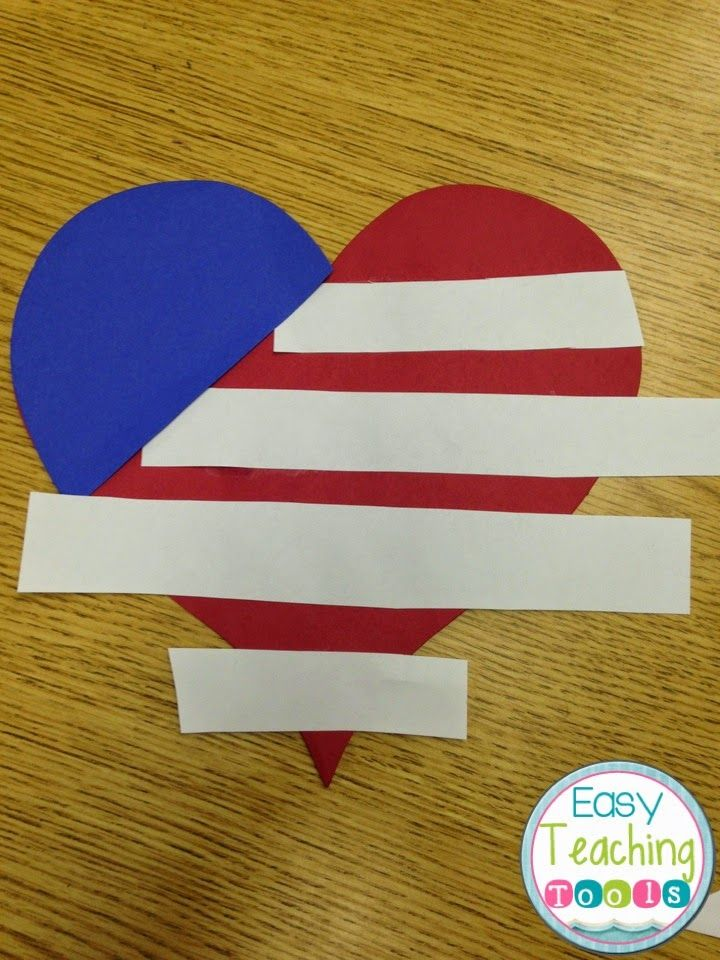 How To Make A Heart Shaped American Flag American Flag Crafts