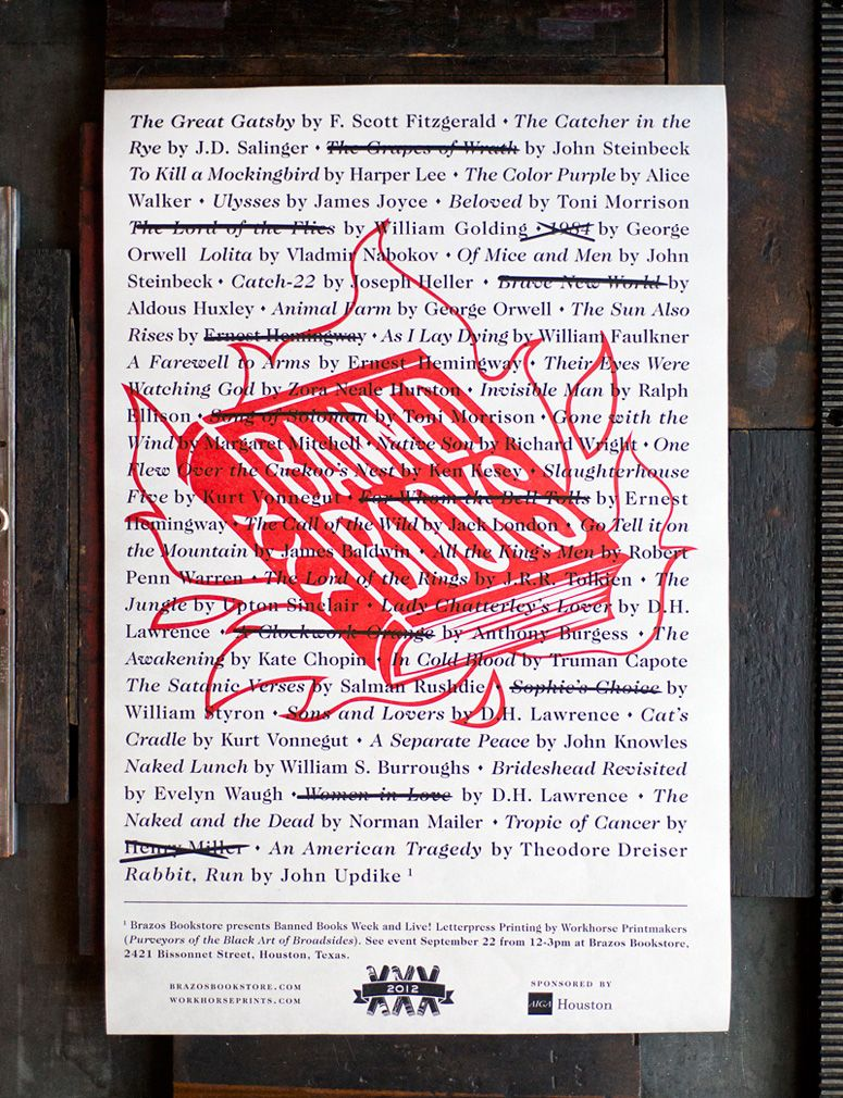 Banned books week broadsides and posters banned books