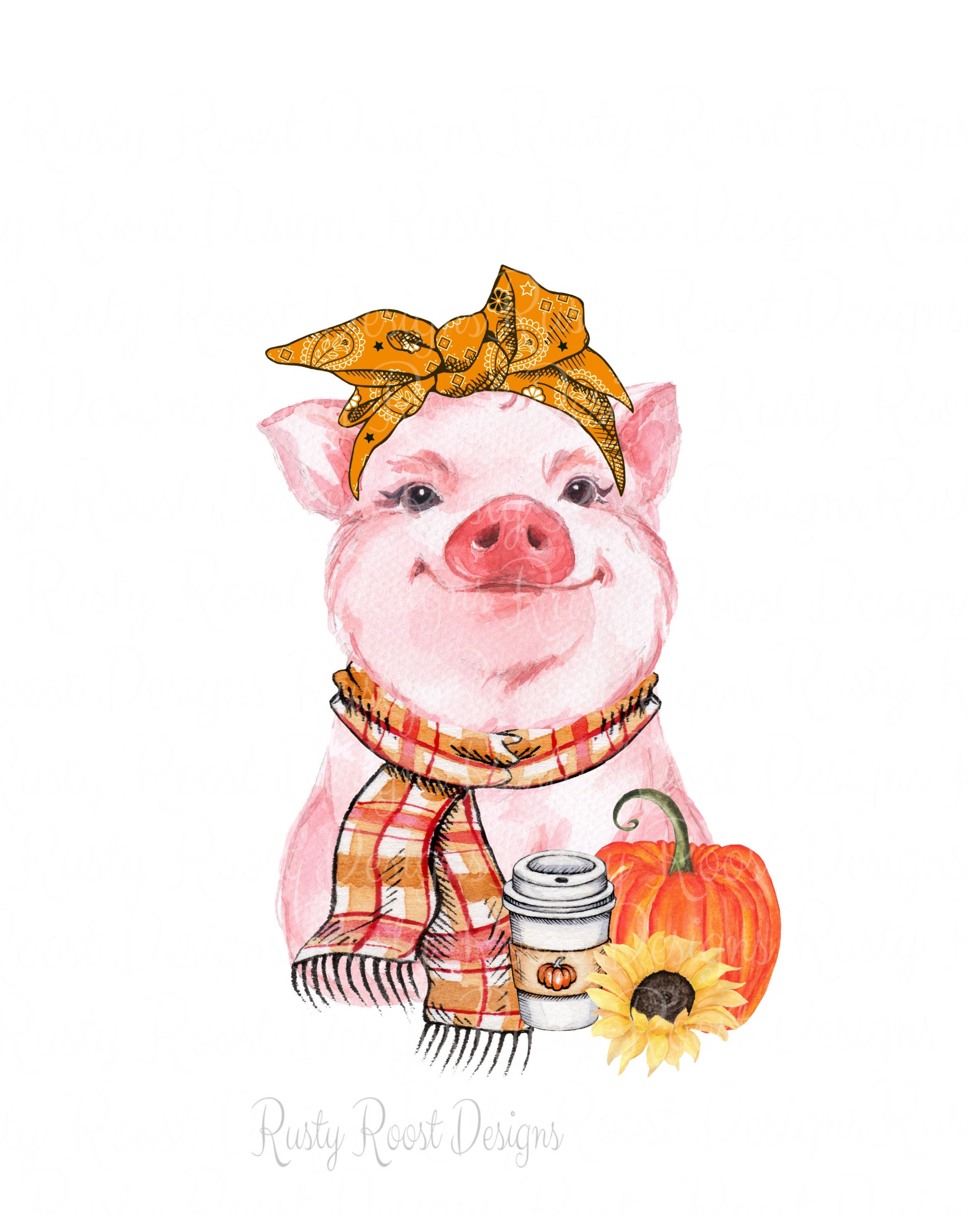 Fall pig png,fall sublimation design download,fall designs,iron on shirt design,pumpkin spice png,pig design,fall pumpkins,digital download #happyfallyallwallpaper