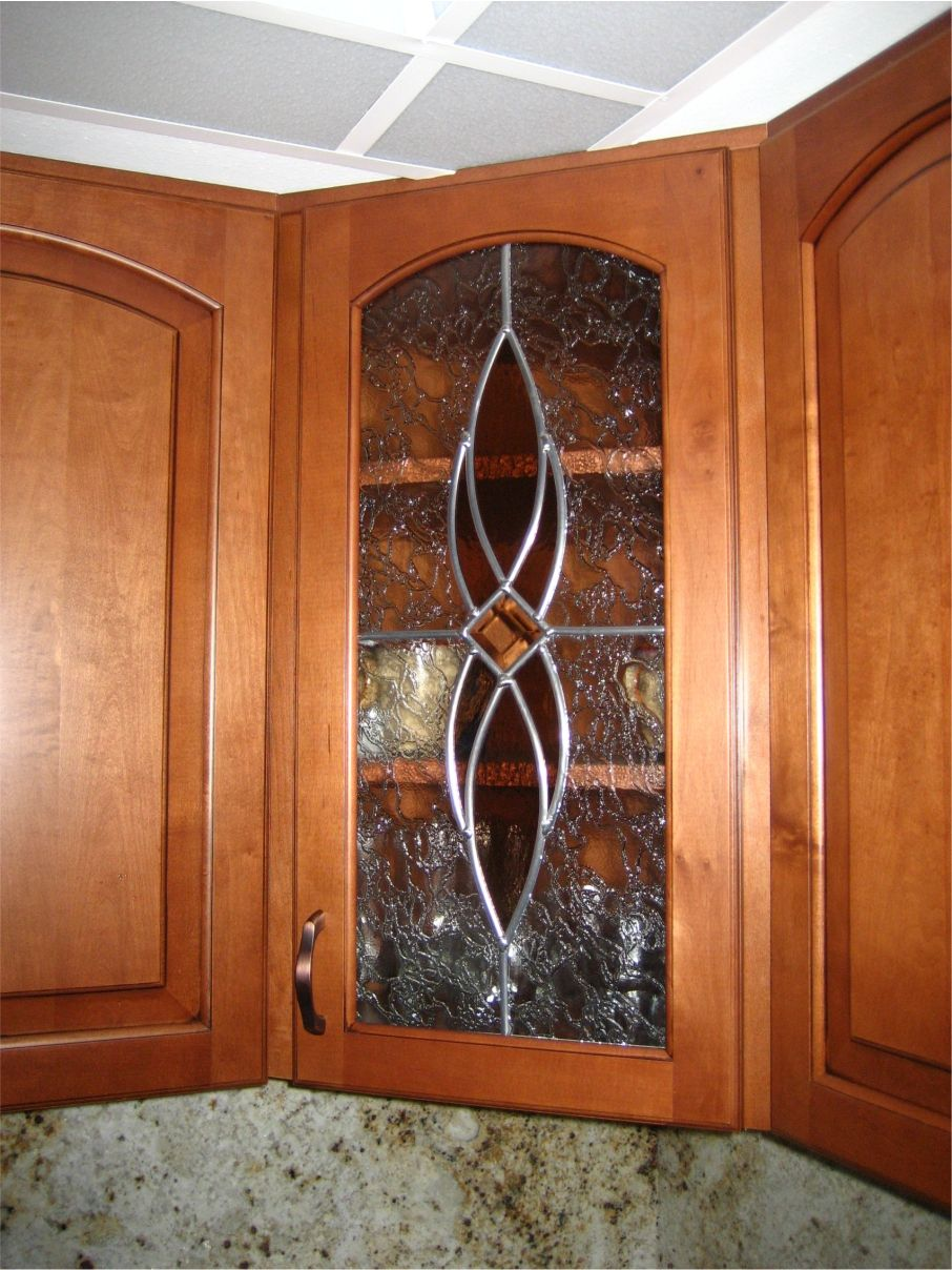 Cute Stained Glass Cabinet Doors Model