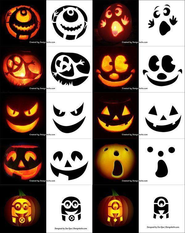 Kurbisschnitzen Schnitzvorlage Pumpkin Templates 8