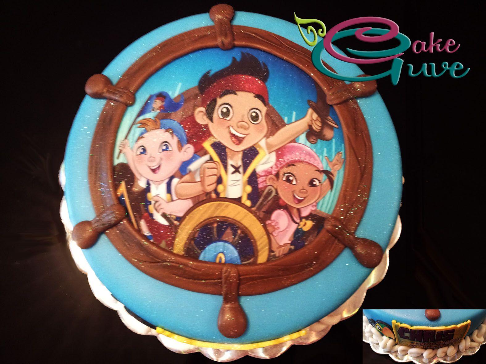 Torta jake y los piratas fiesta matti pastel de - Bizcocho cumpleanos para ninos ...