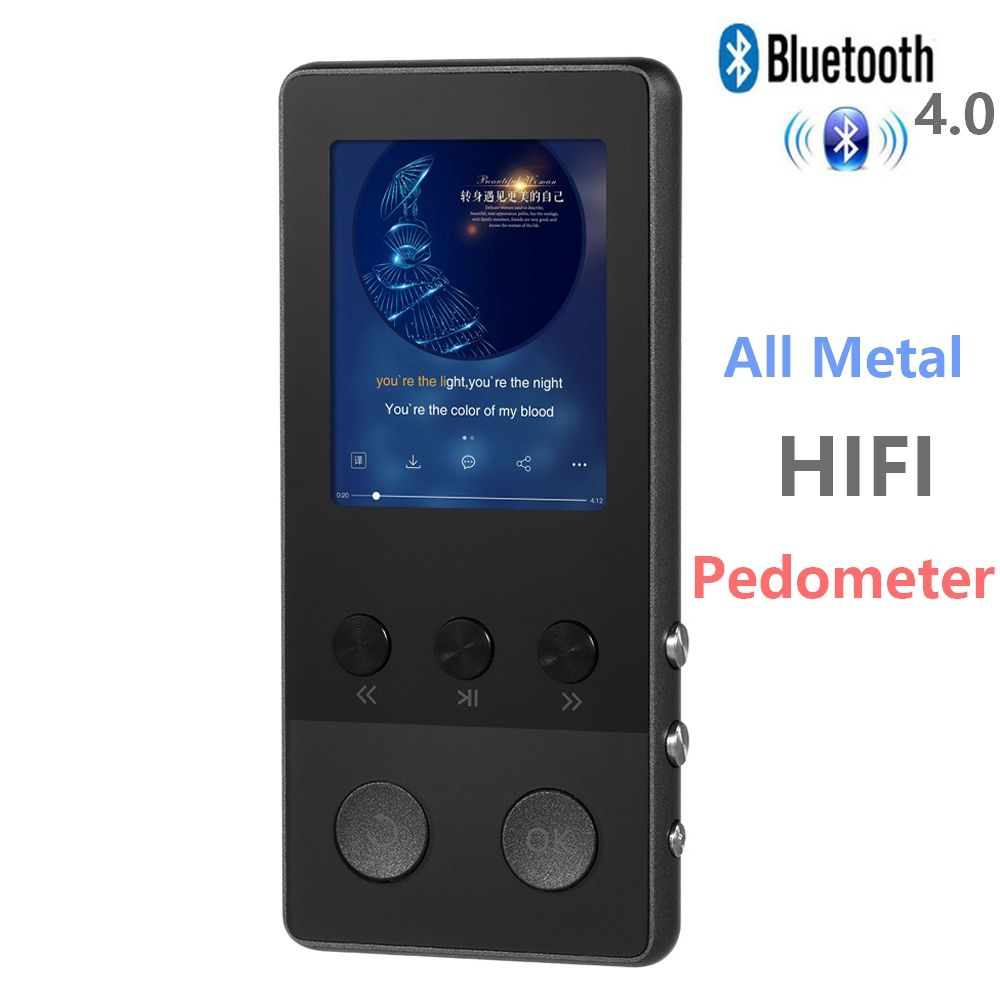 Portable 8GB Metal MP3 Player Lossless Music Player TF Voice Recorder FM Radio