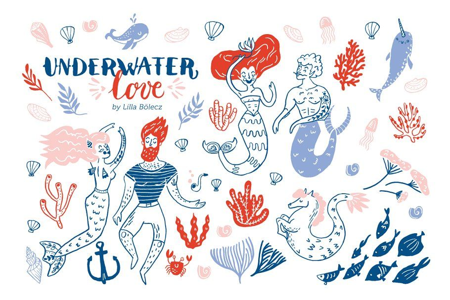Underwater Love Png Clip Art Set In 2020 Love Png Clip
