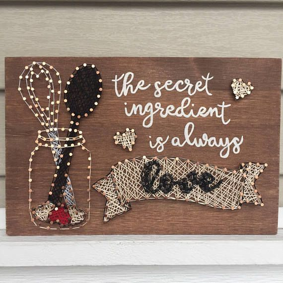 The Secret Ingredient Is Always Love String Art Kitchen Decor