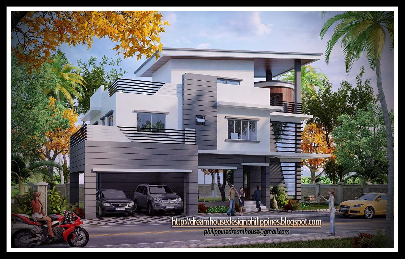 Image result for modern 3 story home with 3 car garage ...