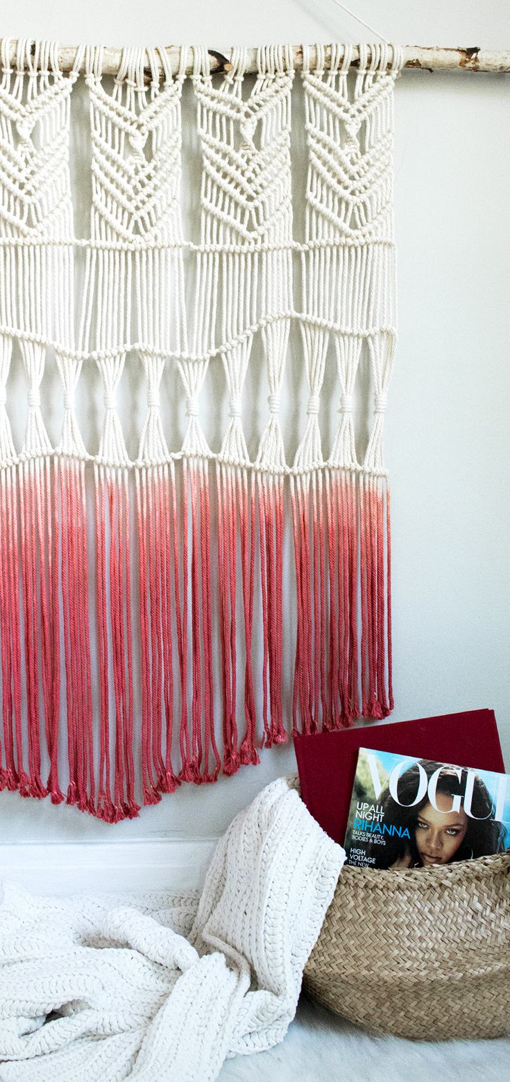 Dipdyed macrame wall hanging diy learn how to make