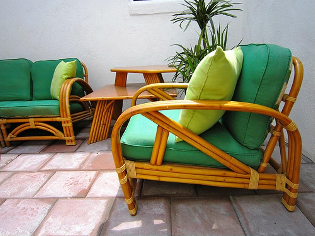 Vintage Bamboo Patio Furniture Furniture Designs
