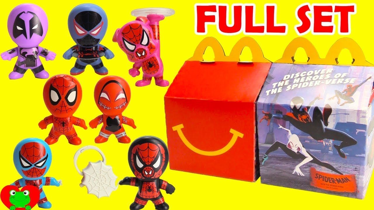 2018 Spiderman Into The Spider Verse Mcdonald S Happy Meal Toys Full Set Happy Meal Toys Happy Meal Mcdonalds Happy Meal