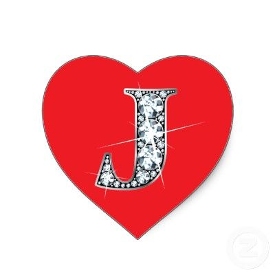 J Alphabet Wallpaper In Heart J Diamond on Red Heart...