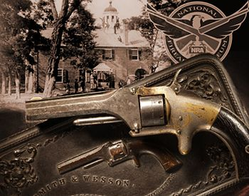 Smith & Wesson No. 1, First Issue revolver presented to Lt. Colonel H.D. Townsend of the 1st Cavalry at Fairfax Courthouse on July 15, 1861.