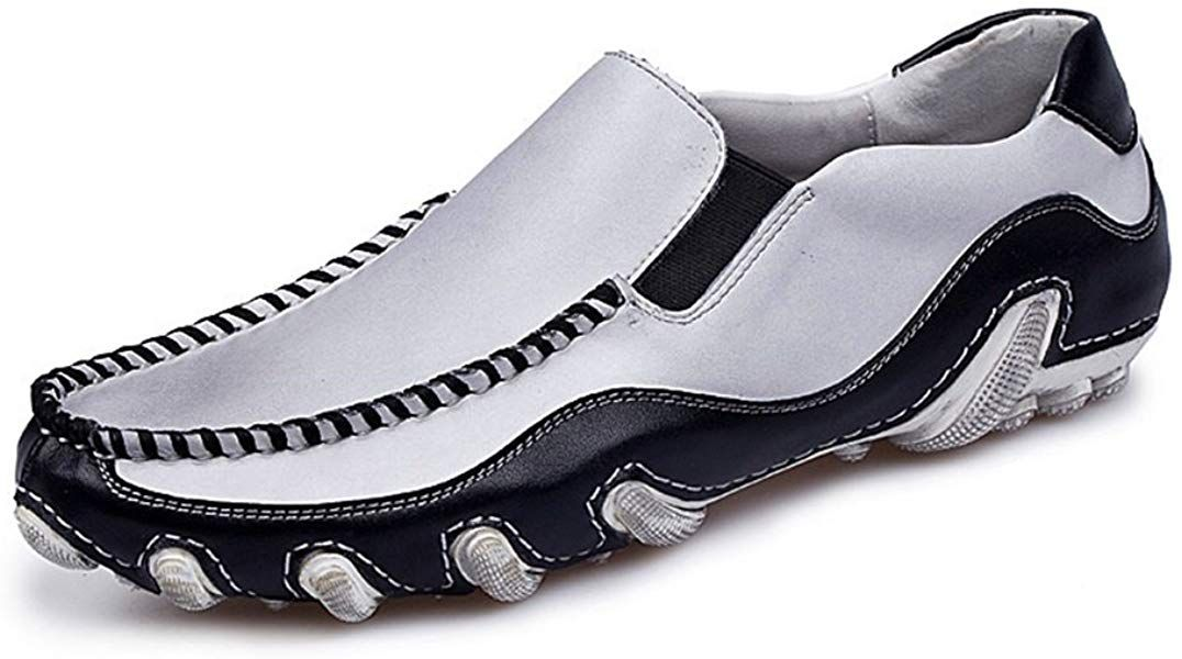 c7d763819550f Amazon.com | Handmade Summer Men's Leather Driving Shoes Casual Slip ...