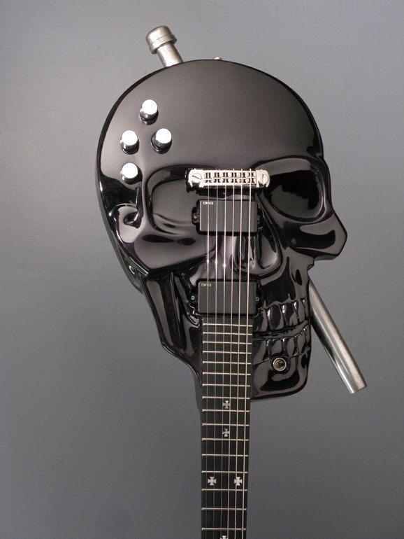 andrews custom skull baritone guitar more guitar stuff guitar music guitar custom guitars. Black Bedroom Furniture Sets. Home Design Ideas