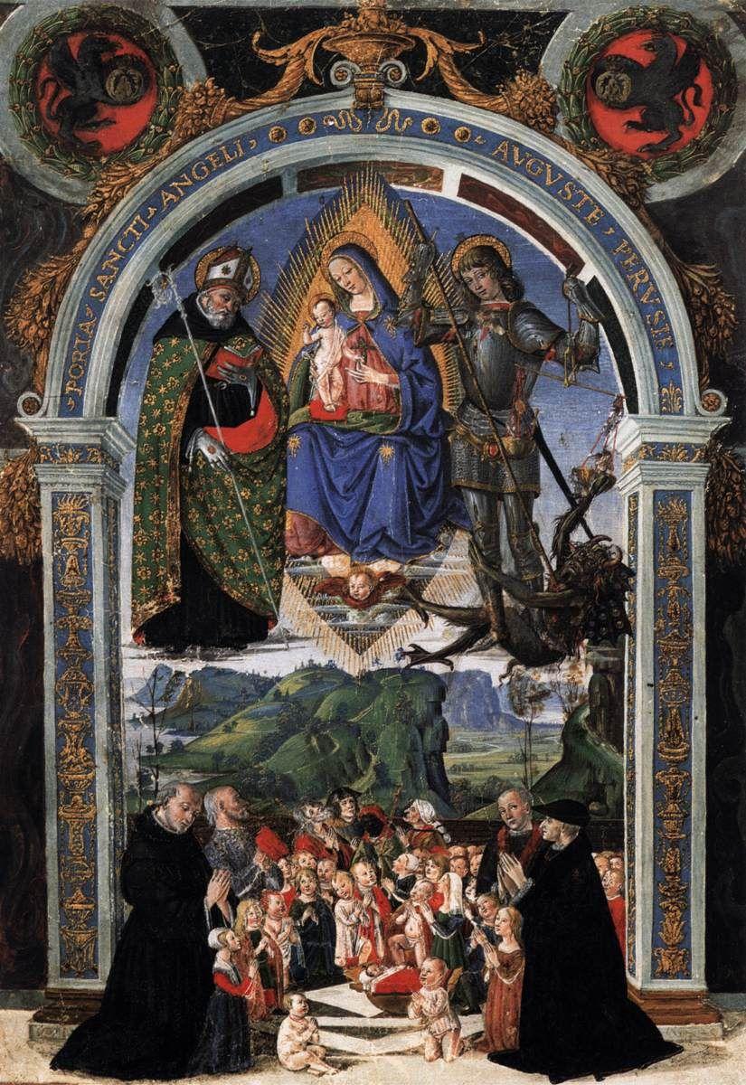 Caporali Bartolomeo. Porta Sancti Angeli Auguste Perugia ...