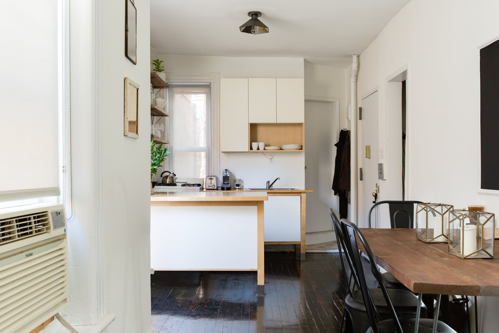 Dorable the kitchen table nyc crest best kitchen ideas i contain tour a compact chic nyc apartment full of smart solutions door workwithnaturefo