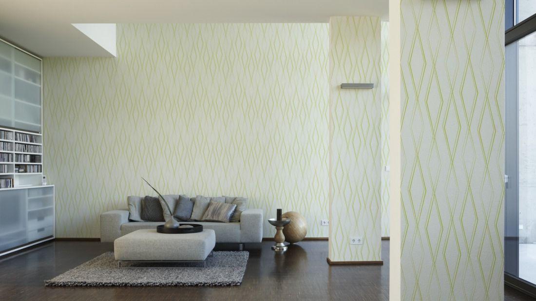 Jette Tapete 288318; Simuliert Auf Der Wand Einrichtung   Orange Wand  Wohnzimmer