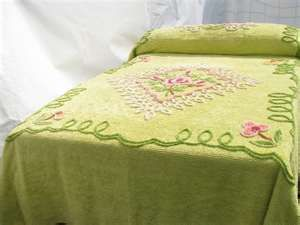 Vintage Green Chenille Bedspread Chenille Bedspread Bedroom Vintage Vintage Bedspread