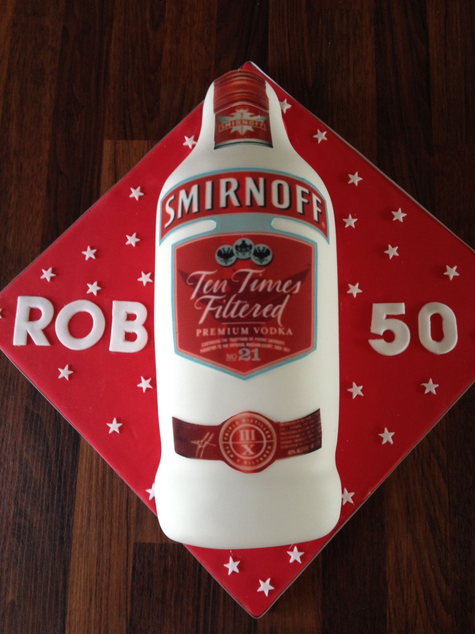 Smirnoff Vodka 50th Birthday Cake Julias Cakes Pinterest