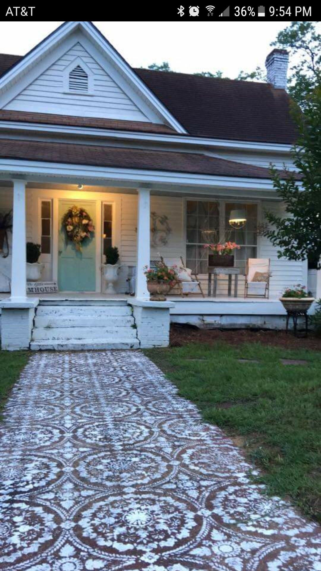 Cool Stenciled Concrete Sidewalk Home Sweet Home In 2019 Download Free Architecture Designs Scobabritishbridgeorg